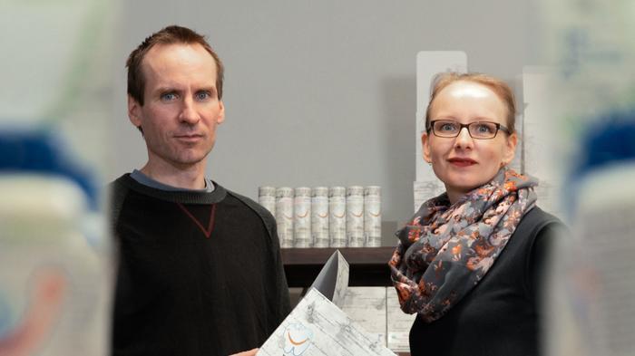 Narskuttelu Oy:n Marianne ja Pekka Hoppu.
