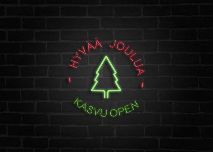 Hyvää joulua, toivottaa Kasvu Open!