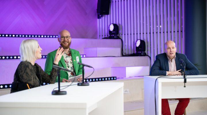 Vappu Pimiä ja Kim Väisänen Kasvu Open Karnevaalissa 2020.